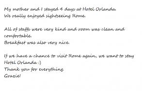 Hotel Orlanda Thanks